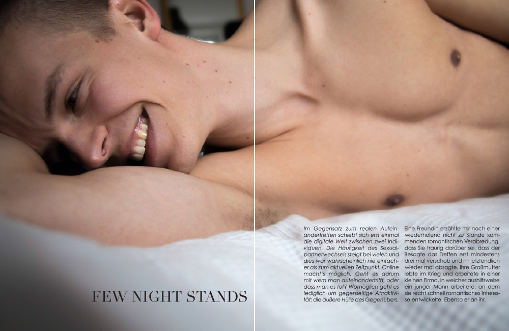 Kurzzeitprojekt Wintersemester 2014 Fotografie Editorial Few Night Stands Vorschau